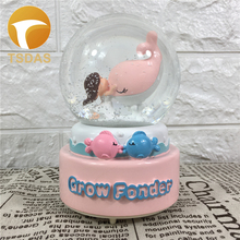 Resin Dolphin Music Box Grown Fonder Mechanism Crystal Music Box Children Birtday Gifts Novelty Musical Box(China)