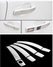 FUNDUOO For Opel Corsa D 2006 2007 2008 2009 Stainless Steel Car Door Handle Cover Trim Sticker Free Shipping