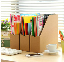 New 1PCS Creative Minimalist Office Kraft Paper Desktop Finishing Shelves Data File Storage Box Office Oragnizer Drawer 5ZCF015