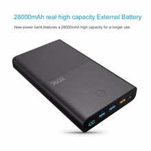 Buy VINSIC 28000MAH Large Capacity Portable Charger Dual USB Output External Battery Pack Power Bank smartphones cable for $35.00 in AliExpress store