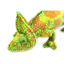 Ocean Park simulates 1pc 69*28cm high crown chameleon emulates large lizard plush toys children birthday gifts