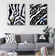 Oil Painting Zebra Pattern Decoration Painting Home Decor On Canvas Modern Wall Art Canvas Poster Canvas Painting(China)