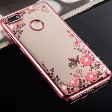Buy Huawei Honor 7X Case Silicone Flower Glitter Bling Diamond Back Phone Cases Funda Huawei Honor 7X Cover Soft TPU 5.93'' for $2.08 in AliExpress store