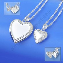 JEXXI Wholesale Necklace Real Pure 925 Sterling Silver Jewelry Case Frame Small Heart & Big Heart Pendant Necklaces