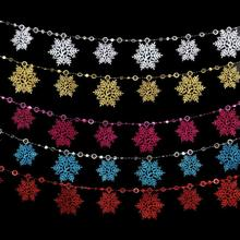 2 meters Christmas Snow flakes White Snowflake Ornaments Holiday Christmas Tree Decortion Festival Party Home Decor F3