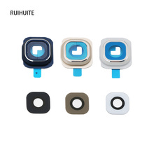 RUIHUITE New Camera Glass Lens Cover + Frame Holder For Samsung Galaxy S6  G920 G9200 S6 Edge G925F