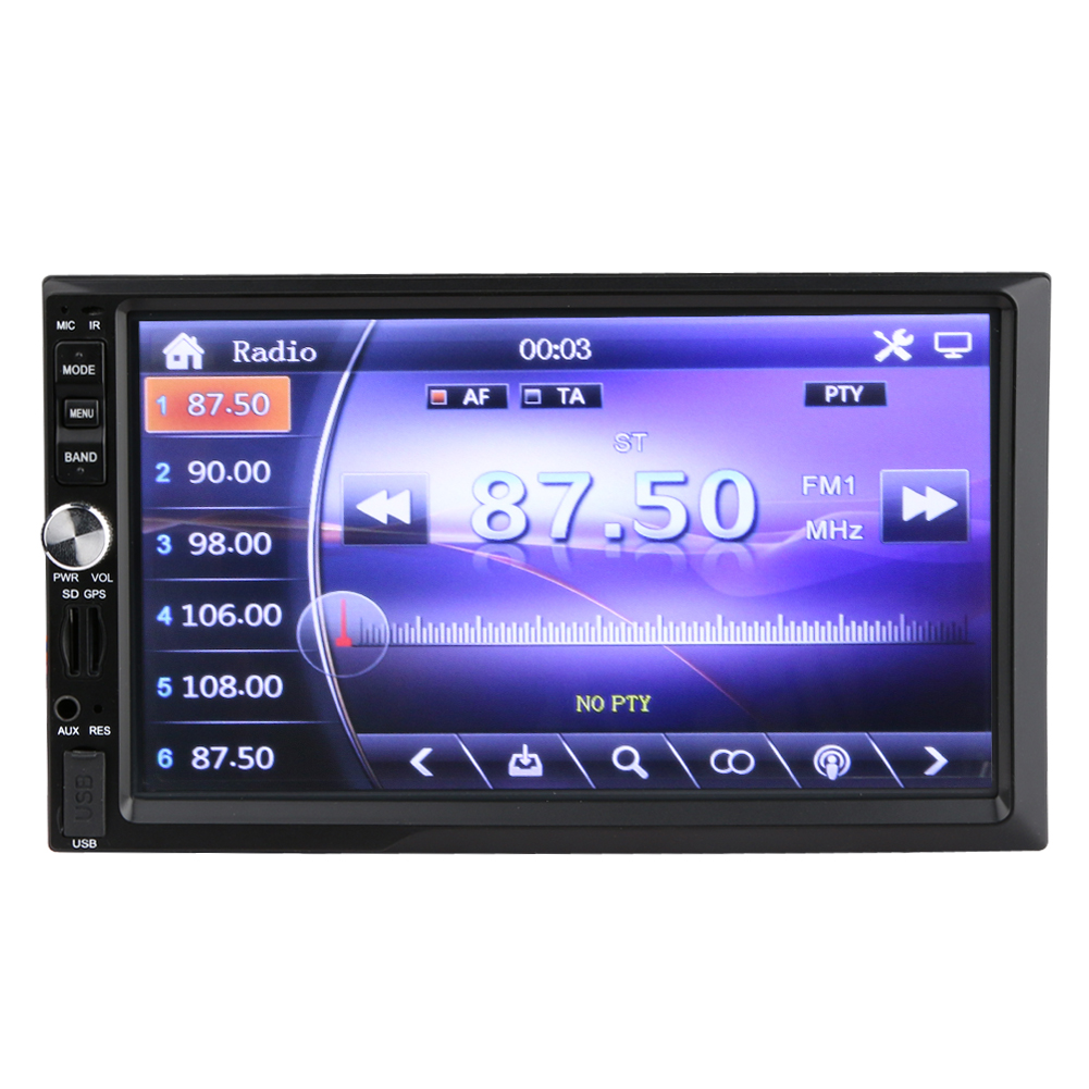 1080P 7 inch  2 DIN touch screen Car radio MP5 MP4 player video FM USB TF AUXIN GPS bluetooth backing-up car player <br><br>Aliexpress