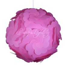 PINK 300MM Petal Flower Modern Contemporary DIY Elements IQ Jigsaw Puzzle ZE Lamp Shade Ceiling Pendant Lamp Ball Light Lighting