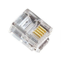 Free Shipping 1000pcs/lot 6P4C 4 Pin RJ11 Telephone Modular Plug Jack Connector Clear
