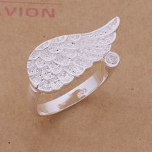 Lovely Jewelry Silver Opening Ring Angel Wing Fashion Ring AR274