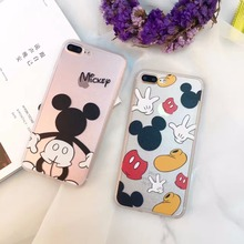 New Fashion Case Minnie Mickey Cartoon Cute 3d Silicone Case for Apple iphone 6 7 S Plus 6s Plus 7 Plus Silk Print Funny Cover