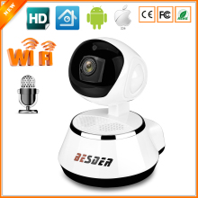 BESDER P2P Wifi Camera IP 720P Indoor Pan Tilt Mini IR Night Vision IP Camera With SD Card Slot Two Way Audio Internal Antenna(China)