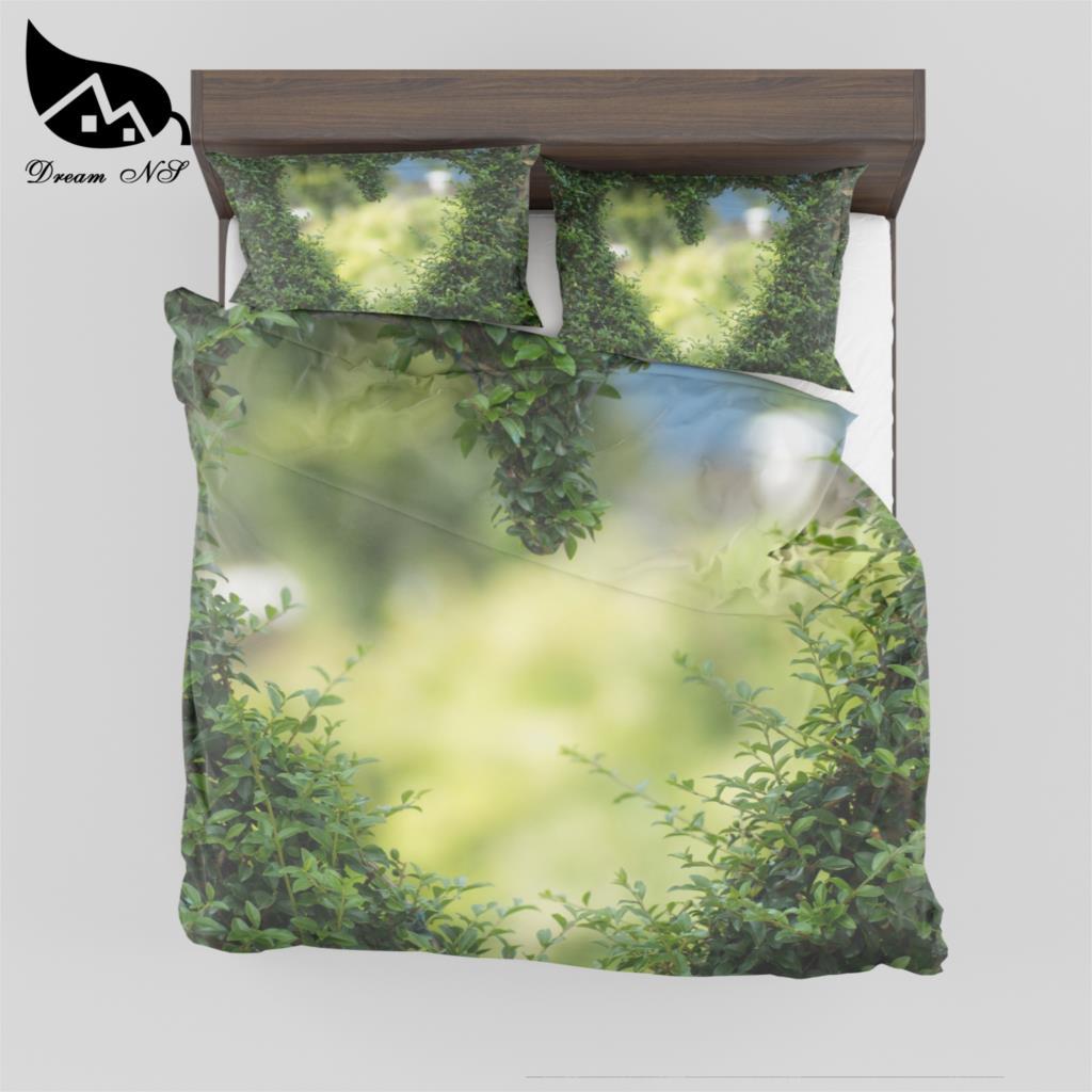 Dream NS Custom Picture Bedding Set Green vine love Duvet Cover Pillowcase Pertsiako burko-zorro pertsonalizatua SMY12