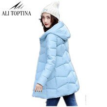 2017 Brand New Winter Jacket Women Cotton Parkas Big Size XL-3XL Lady Hooded Coats Jaqueta Feminina Retail Cheap Outerwear Mf56(China)