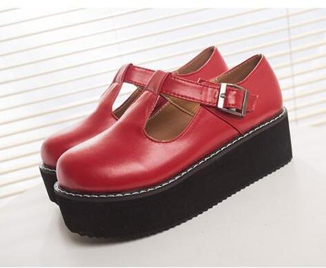 Fashion 2017 New Women Creepers Pu Women Flats Platform Mary Jane Ankle Strap Casual Ladies Loafers Shoes<br><br>Aliexpress