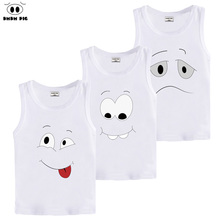 DMDM PIG Summer Baby Boy Girl Clothes Child T Shirts For Boys T Shirt Children's Sleeveless T-Shirts For Girls T-Shirt Girl Top