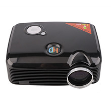 HD PH5 SVGA 2D/3D 2500LM HD Home LCD Mini LED Projector with for HDMI Input TV Tuner Beamer Support (1280x800) (1024x768)