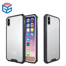 Shock Absorption TPU And PC Hard Case Combo Hybrid Cover For iPhone X 10 Ten Free Shipping(China)