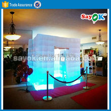 Hot 2017 new designed high quality inflatable cube photo booth for sale