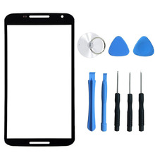 Replacement Front Touch Screen Outer Glass Lens For Motorola Google Nexus 6 High Quality + Tools, Free Shipping&Tracking Number(China)