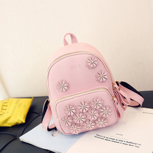 2017 lovely princess girls backpack han edition of flowers, a primary school pupil's school bag bag girl leisure tourism
