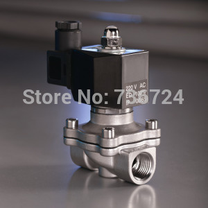 3/4stainless steel solenoid valves normally closed IP65 square coil Air , Water ,Oil,Gas<br>