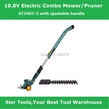 ST1007-2 10.8v electric loppers/cordless pruner/Sier 2in1 trimmer/Electric lawn mower with ajustable handle(China)