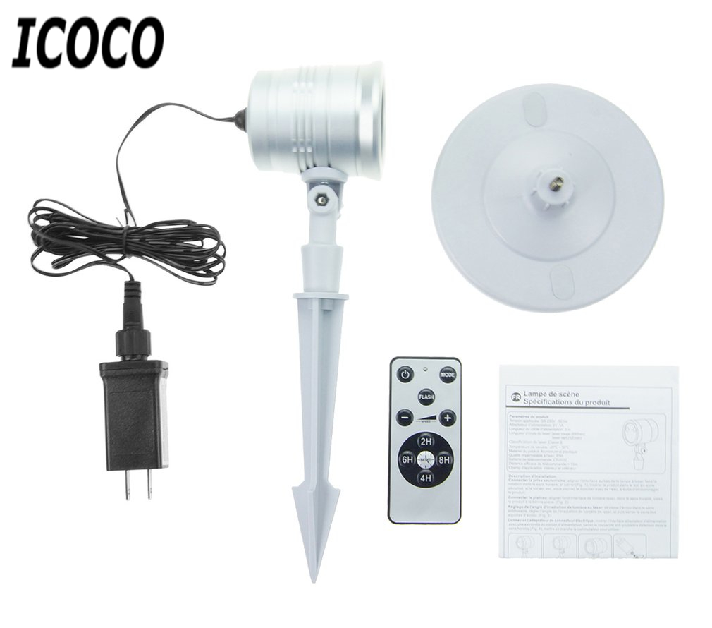 ICOCO 1pc Mini Laser Light Starry Sky Star+Christmas Pattern RF Remote Control Waterproof Laser Lamp for Home Festival Decor<br>