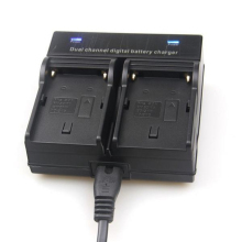 Dual Channel Battery Charger FOR SONY NP-F550 F970 F960 F770 F750 F570 FX1000E BC-V615,BC-V615A(China)