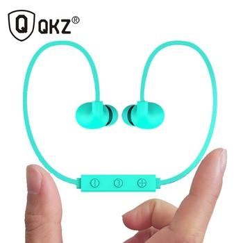 Qkz h1 auriculares bluetooth inalámbricos impermeable v4.1 estéreo en la oreja los auriculares de cancelación de ruido auricular bluetooth para teléfonos inteligentes