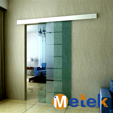 6.6FT Aluminium alloy barn glass sliding door system(China)