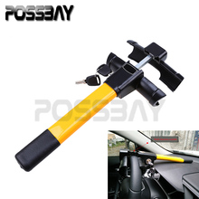 POSSBAY High Quality Automobile Car Anti-theft Steering Wheel Lock Security With Keys Car-covers Alarm Accessories