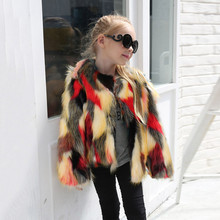 toddlers clothing winter Kids Baby Girls Faux Fur Coat Jacket Thick Warm Outwear Clothes faux fur coat baby winter coats 2018(China)