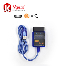 Vgate ELM327 USB OBD Scan USB Diagnostic Scanner Work With OBD2 Vehicle Vgate ELM 327 USB OBD2 Scan