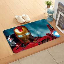 W530L1 Custom iron man avengers comfortable Watercolor Painting Doormat Home Decor Door mat Floor Mat Bath Mats foot pad #F1(China)