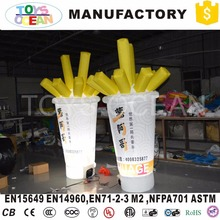 Hot sale customized Advertising inflatable french fries model(China)