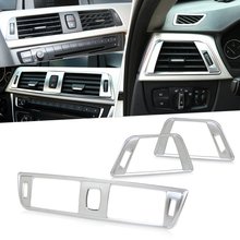 DWCX car-styling ABS Plastic Chrome Dashboard Air Vent Cover Trim for BMW 3 Series F30 2013 2014 2015 2016(China)