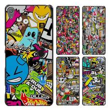 Sticker bomb Style Case Cover for Sony Ericsson Xperia X XZ XA XA1 M4 Aqua E4 E5 C4 C5 Z1 Z2 Z3 Z4 Z5(China)