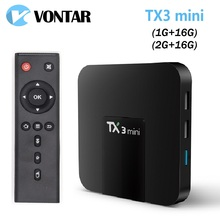 VONTAR Android 7.1 TV BOX 2GB16GB Amlogic S905W Quad Core Suppot H.265 4K 2.4GHz WiFi Media Player IPTV Box TX3 mini 1GB 16GB