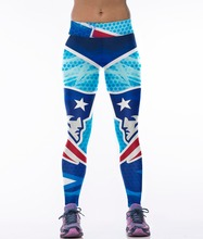 New England Patriots 3D Printed Leggings Jeggings Gymnastics Clothing For Women Fitness Pants Blue Color Punks Rock Gothic Legin