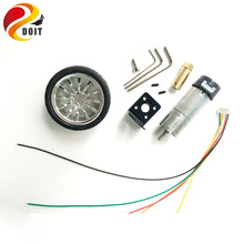 DOIT One Set Accessory for Robot Car Chassis with 25mm Motor+30mm Length Copper Coupling+65mm Width Wheel+Motor Bracket+Screw(China)