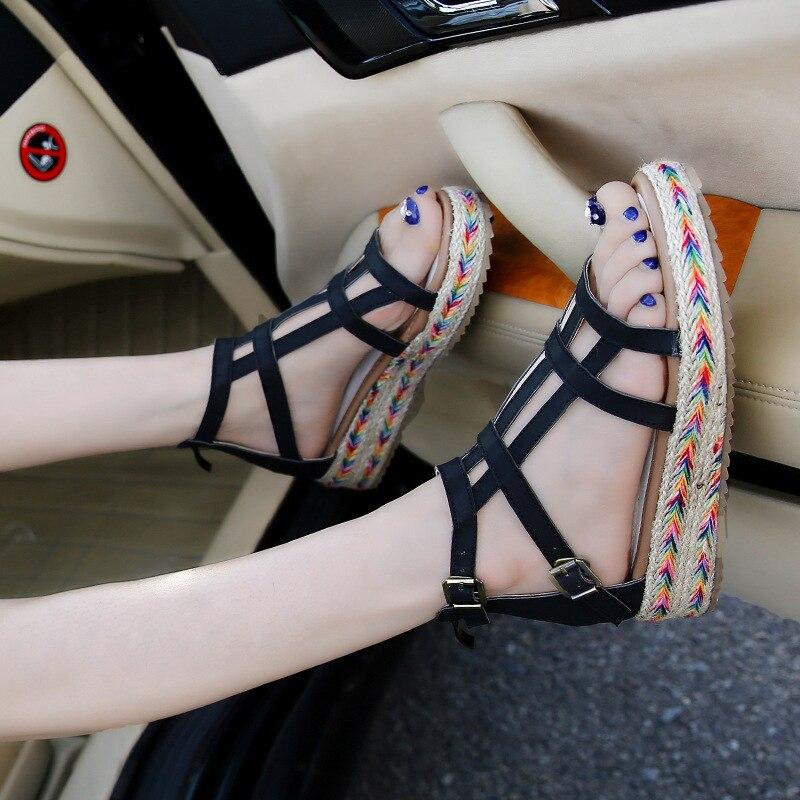 Hot Selling Sandals Shoes Women Summer Open Toe Shoes Roman Woman Shoes Lady Sandalias Mujer Sandalias Plus Size 34-43<br><br>Aliexpress