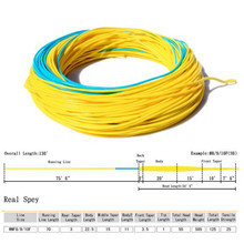 Maximumcatch Fly Fishing Line 7-10wt 125FT Blue/Yellow Color With 2 Welded Loop Weight Forward Floating Fly Line