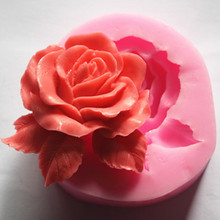 Handmade soap/silicone mold/soap mold/silicone soap mold/rose(China)
