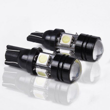 1X High brightness Car Styling T10 LED W5W 196 168 Car LED Auto Lamp 12V 20W Light bulbs with Projector Lens for Tiguan Packing