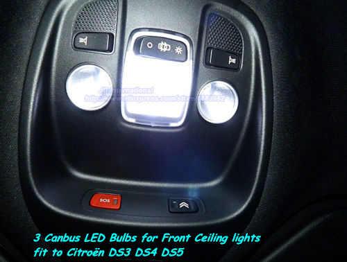 3pcs Car Led Dome Light For Citroen Canbus Interior Lighting Bulbs For Citroen Ds3 Ds4 Ds5 Front Ceiling Lamp