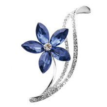 3 Colors Choose Rhinestone Flower Brooches For Women Simple Design Fashion Jewelry Wedding Pins And Brooches High Quality Cute