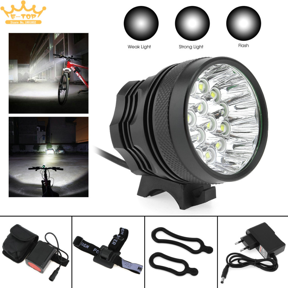 T6 LED 16 x XM-L  Bicycle Lamp Bike Light Headlight Cycling Torch with 8.4V  Battery Set<br>