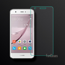 Screen Protector For Huawei Nova Tempered Glass Full Cover 2.5D Curved Edge For Huawei Nova Protective Film Full Coverage 0.26mm(China)