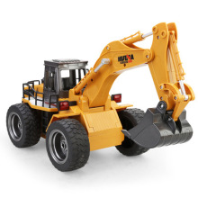 Original box NO.1530 2.4G 6CH Mini RC Excavator Engineering Vehicle Truck Toys for Kid Children Remote Control Engineering Navvy(China)